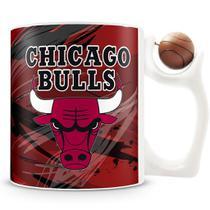 Caneca Alça Bola Personalizada Chicago Bulls (Basquete) - Amocanecas