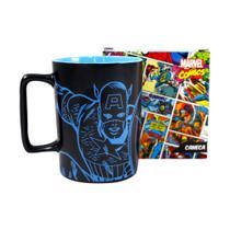 Caneca Cerâmica com Alça Capitão América Marvel 500ml -