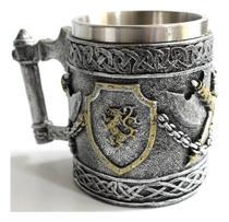 Caneca Chopp Inox Game Of Thrones House Lannister 400ml - Koala Megashop