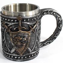Caneca Chopp Inox Game Of Thrones House Stark 400ml Presente - Koala Megashop