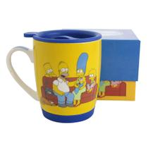 Caneca com Tampa e Base de Silicone The Simpsons - Zona criativa