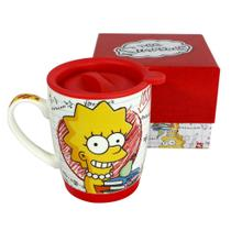 Caneca Com Tampa - Team Lisa Simpson - The Simpsons - Zona criativa