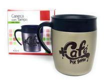 Caneca Copo Térmico Inox Café Chá Suco Quente Frio Tampa Carro Trabalho - Aço Escovado - win