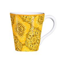 Caneca De Cerâmica 200Ml Bandana Amarela - Scalla -