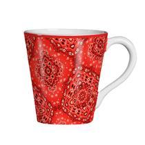Caneca De Cerâmica 200Ml Bandana Vermelha - Scalla -