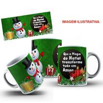 Caneca de cerâmica branca Natal opção 6 -