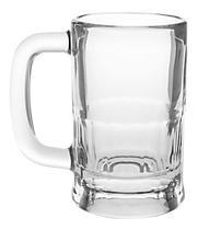 Caneca de Chopp Cerveja 355ml Libbey Vidro Transparente Temperado Zero Grau -