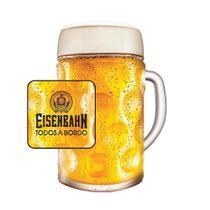 Caneca de Chopp de Vidro ou Cerveja Mass Eisenbahn 1 Litro -