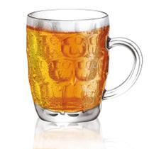 Caneca de chopp grande copo em vidro para cerveja luxo 570ml hauskraft - Western