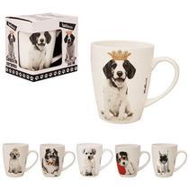 Caneca de porcelana cachorros 340ml na caixa wx - Wellmix