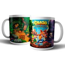Caneca de porcelana - Crash Bandicoot - Oficina dos Bits -