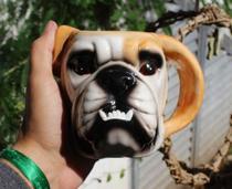 Caneca de porcelana esmaltada bulldog 3d 550mL - Dynasty