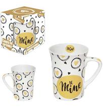 Caneca De Porcelana Muddy Be Mine 320Ml Na Caixa Wx - Wellmix