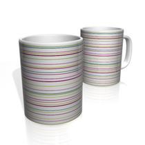 Caneca De Porcelana Nerderia e Lojaria linhas multi color colorido - Nerderia Presentes