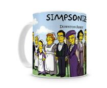 Caneca Downton Abbey The  Simpsons - Artgeek