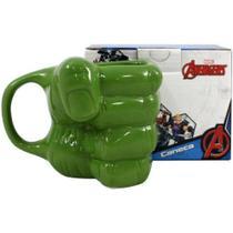 Caneca formato 3d mão hulk - 350ml - Zc