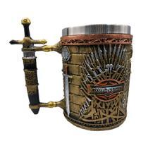 Caneca Game of Thrones 3D 450ml Trono de ferro Aço e Resina - Braswu