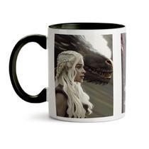 Caneca game of thrones  daenerys poster - Canecas personalizadas