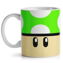 Caneca Gamer - Cogumelo Verde 1-UP - Yaay