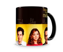 Caneca How I met your mother Personagens III Black - Artgeek