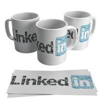 Caneca Linkedin Logo Rede Social Profissão Currículo - Decore Arte
