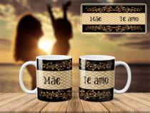 Caneca Mãe Te Amo Porcelana 325ML - Biona