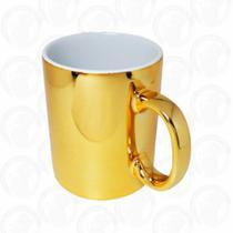 Caneca Metalizada Dourado Resinada Para Sublimação - 325 ML CAIXA C/12 Und - Ponto Do Acrílico