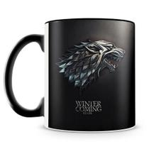 Caneca Personalizada Game Of Thrones Stark (Preta) - Amocanecas