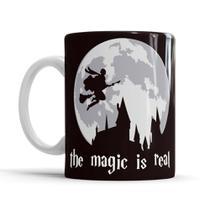Caneca Porcelana Chá Harry Potter The Magic is Real Presente - Koala Megashop