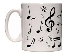 Caneca porcelana musica - Lojaloucospormusica