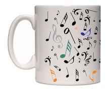 Caneca porcelana notas musicais clave sol - Lojaloucospormusica
