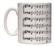 Caneca porcelana notas musicais - Lojaloucospormusica