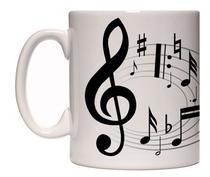 Caneca porcelana notas partitura - Lojaloucospormusica