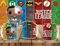 Caneca porcelana personalizada colecionáveis funko pop liga da justiça - Atitude Signs