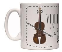 Caneca Porcelana violino (mod2) - Lojaloucospormusica