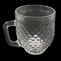Caneca vidro transparente barroco 375ml - wheaton -