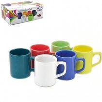 Canecas Em Ceramica Para Cafe 85ml Coloridas 6 Unidades - Hypem