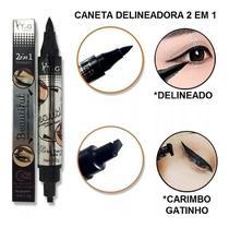 Caneta Delineador Carimbo Olho Gatinho Longo 2 Em 1 Tango -