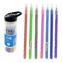 Caneta esferogràfica spiro pc c/24 und coloridas 0.7 cis -