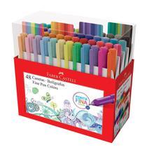 Caneta Faber-Castell Fine Pen 0.4 Colors 48 Cores -