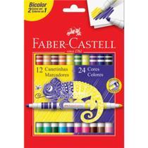 Caneta Faber Prestocolor 12und 24 Cores Bicolor - Faber-Castell