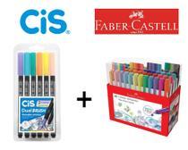 Caneta Fine Pen Color 48 cores + Dual Brush Marcador Pastel - Cis