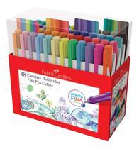 Caneta Fine Pen Colors 48 Cores Faber Castell -