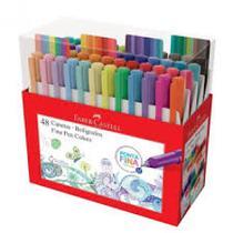 Caneta fine pen colors  c/48 cores - fpb/es48zf - Faber Castell