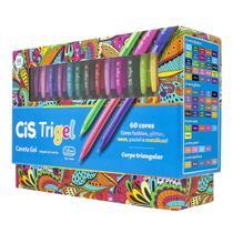 Caneta Gel Colorida TriGel 60 Cores Cis -