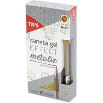 Caneta gel tris effect metalic ouro 1,0mm cx.c/12 - Summit