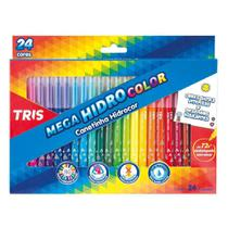 Caneta Hidrocor 24 Cores Mega Hidro Color Tris - Summit