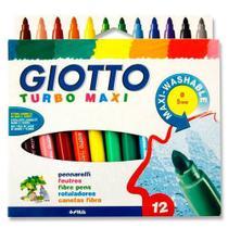Caneta Hidrocor Giotto  Tubo Max  012 Cores  076200 -