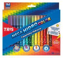 Caneta Hidrográfica 36 Cores Lavável Mega Hidro Color Tris -