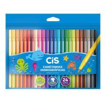 Caneta hidrográfica Color - 48.6104 - com 24 cores - Cis -
